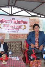 कालिमाटी गाउँपालिका आर्थिक वर्ष ०७५\७६ को निती कार्यक्रम तथा बजेट प्रस्तुत गर्दै  उपाअधक्ष्य सनसिल्ता  वोली |  |